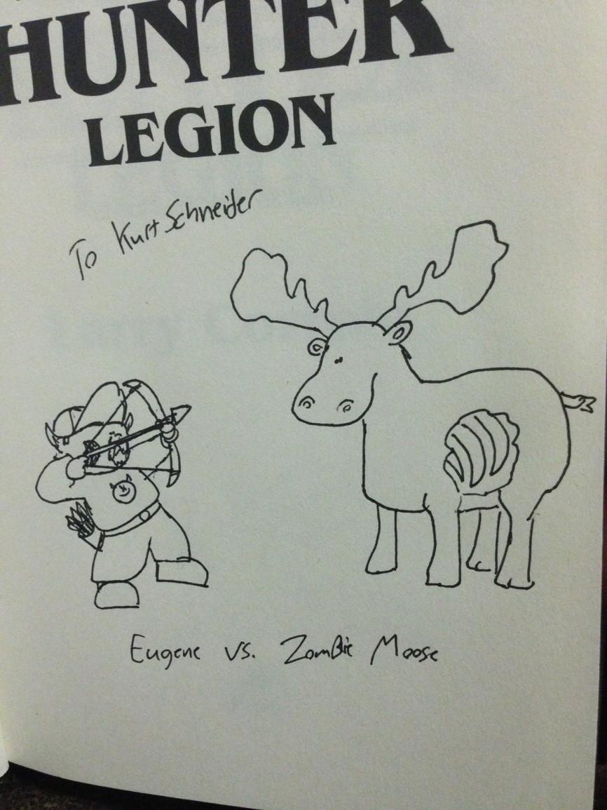 a zombie moose